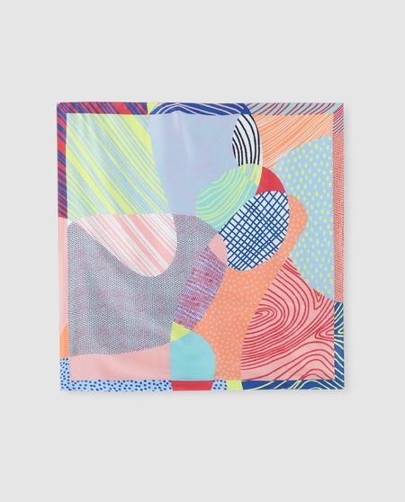 Pañuelo Jo & Mr. Joe multicolor con estampado combinado fantasía