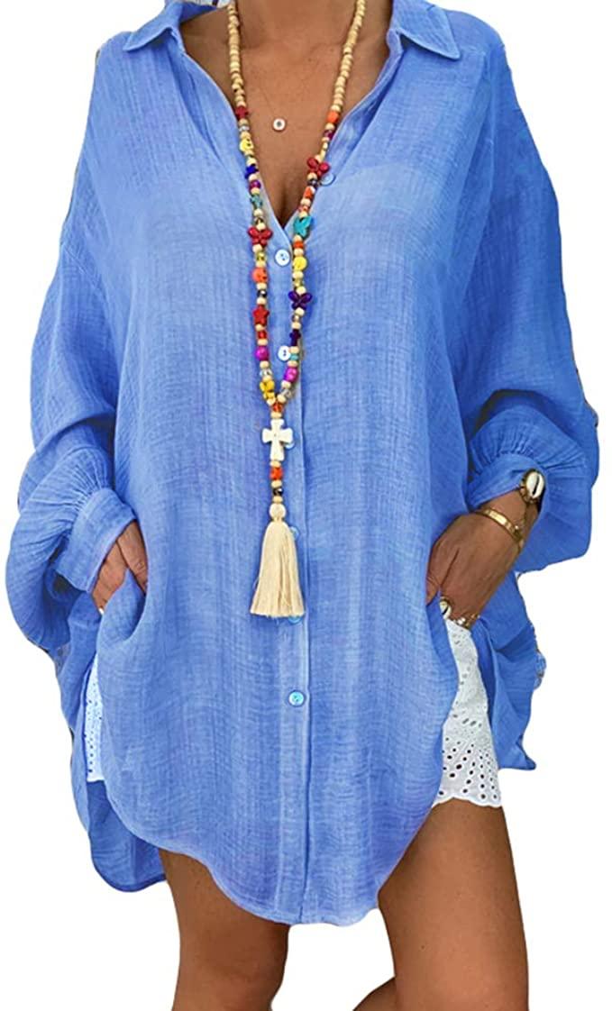Camisa de estilo oversize en azul
