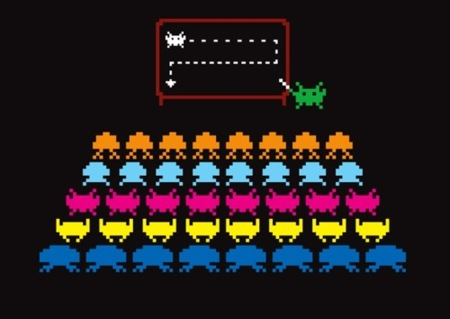 Las camisetas más divertidas de la década. Space Invaders