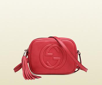 Disco Bag Soho en rosa begonia Gucci