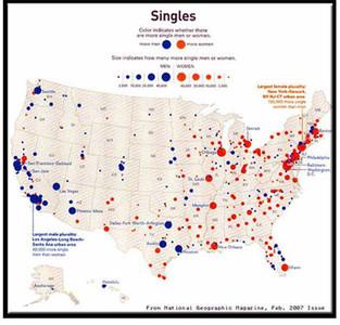 Las mejores ciudades americanas para conseguir novi@