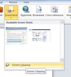 Herramienta de capturas de pantalla Office 2010