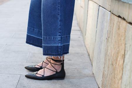 Lace Up Flats Bailarinas Cordones Gladiadoras Zapatos 2015 3