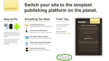 Posterous permite importar desde Ning y ofrecerá 14 plataformas más