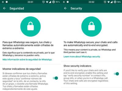 Cómo mostrar el aviso oculto de cifrado punto a punto en WhatsApp (requiere Root)