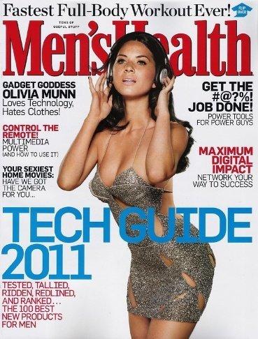 Olivia Munn calienta de lo lindo al personal con sus gadgets, en la portada de Men's Health