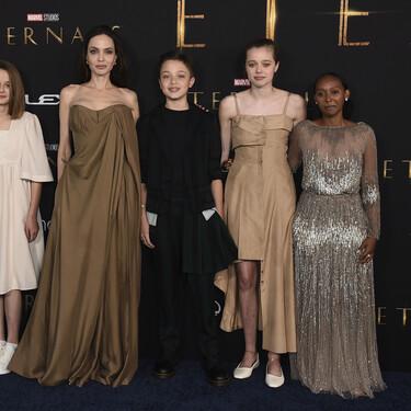 Angelina Jolie y su hija Zahara Jolie-Pitt comparten armario y sus looks en el estreno de 'Eternals' lo demuestran