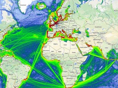Esta web te muestra el tráfico marítimo de todo el mundo en tiempo real