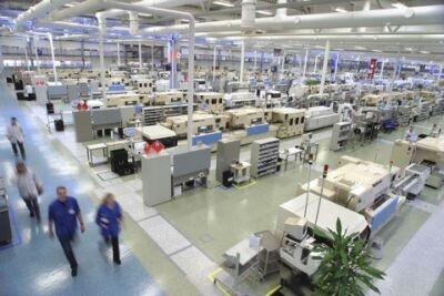 Fotos de una fábrica de Nokia