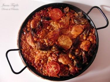 Receta de arroz al horno con pollo y alcachofas