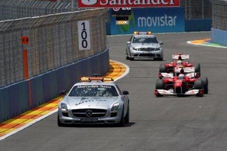 El polémico Safety Car en el Gran Premio de Europa 2010