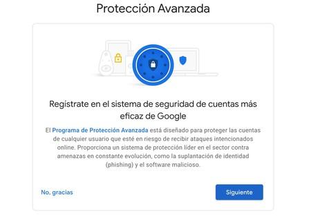 Programa Protección Avanzada Google