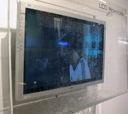 CeBIT 2007: pantalla Sanyo resistente al agua