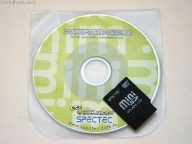 Spectec SDW-822, wireless a través de miniSD