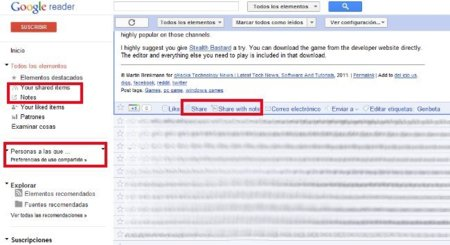 ReaderShared para que Google Reader vuelva a ser el de antes