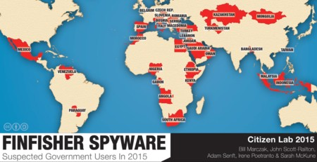 El spyware FinFisher suma y sigue: España y otros 32 gobiernos podrían estar utilizándolo