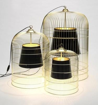 Recicladecoración: las lámparas enjauladas de Ascète