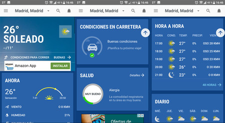 mejor app para clima android