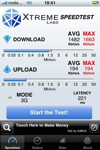 Probando la Tarifa Plana Mensual en el Móvil de Vodafone con el iPhone 3G