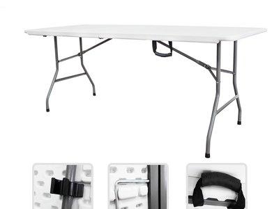 Esta mesa plegable de 183 cm. es ideal para camping o para recibir invitados. Sólo hoy cuesta 51,84€ en Amazon con envío gratis