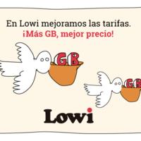 Lowi estrena una nueva tarifa móvil con 5 GB y mejora las actuales con llamadas ilimitadas o más gigas