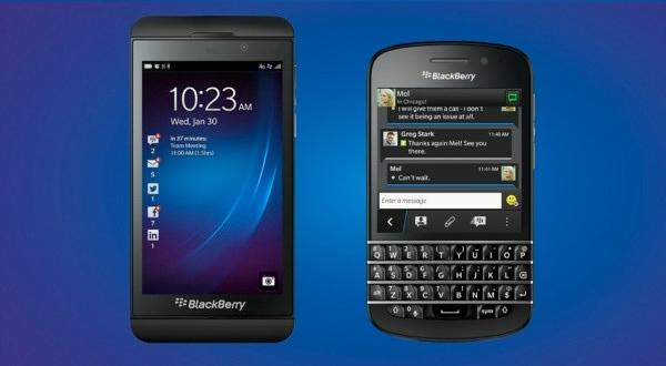 Blackberry Z10 y Q10
