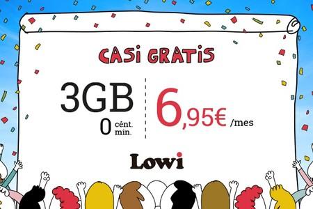 Lowi simplifica y rebaja sus tarifas móviles, que ahora parten de 3 GB