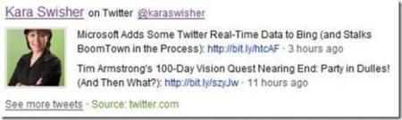 Bing añade búsquedas en Twitter