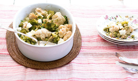 Brócoli y coliflor con Burgo de Arias Lingote