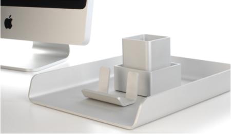 Deskset, un conjunto de utensilios de escritorio en aluminio anodizado