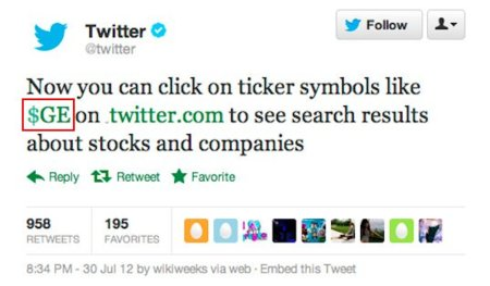 """Llegan los """"Cashtags"""" de la Bolsa a Twitter"""