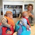 Elsa Pataky monta un primer cumple de lo más saludable para sus mellizos