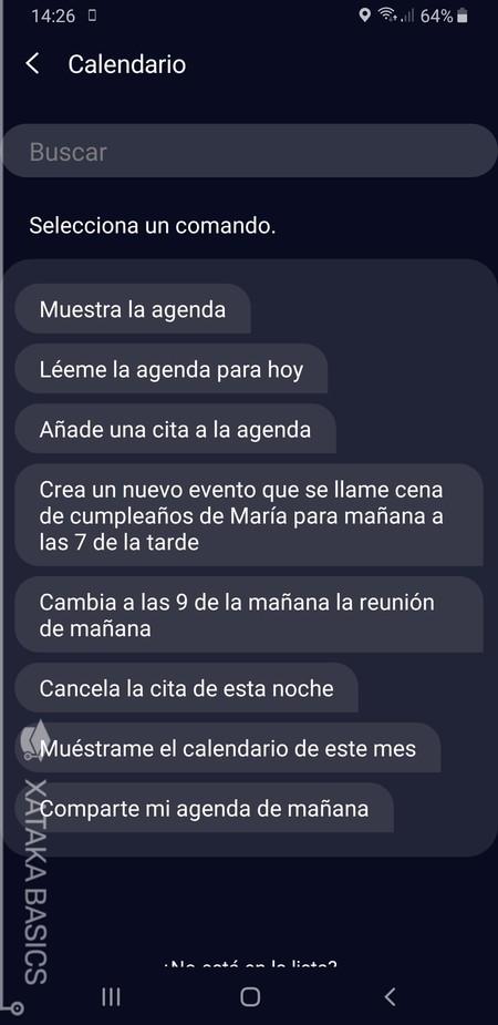 Comandos Calendario