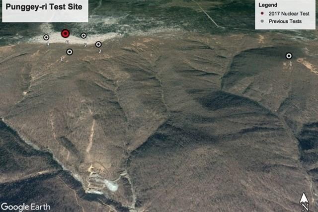 Una prueba nuclear norcoreana desplazó esta montaña tres metros de distancia