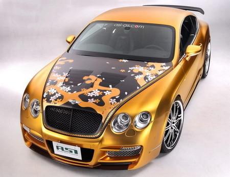 Bentley Continental GT preparado por ASI: decoración floral de medio millón de euros