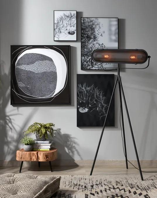 Lámpara de pie Arete de acero