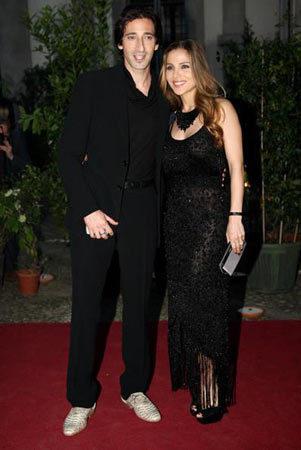 Elsa Pataky y Adrien Brody en Milán