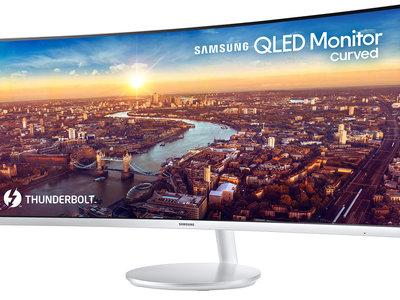 Samsung apuesta por la conexión Thunderbolt 3 en su nuevo monitor curvo y ultrapanorámico