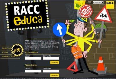La fundación RACC ha desarrollado una aplicación interactiva en línea para sensibilizar a los más jóvenes como peatones y futuros conductores