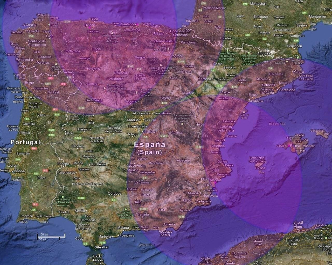 Area cobertura Pegasus Bases temporales