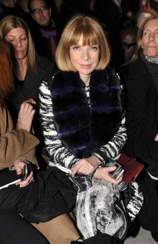 Todas las famosas y modelos en la Semana de la Moda de París, Anna Wintour