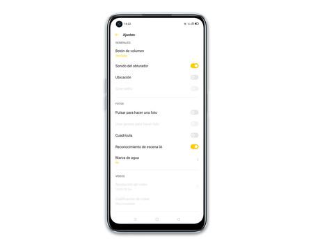 Realme 6 Camara App Ajustes