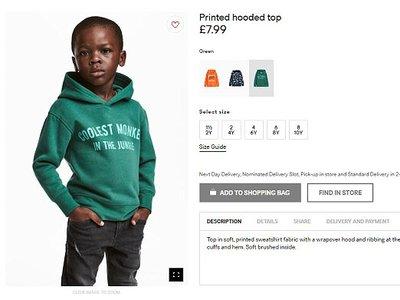 H&M acusada de racismo por la leyenda en una de sus sudaderas vestida por un niño negro