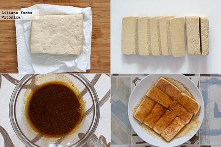 Tofu Cajun. Pasos
