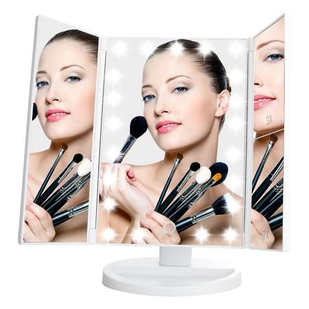 Oferta en Amazon del Espejo de Maquillaje Tríptico Plegable y con envío gratis
