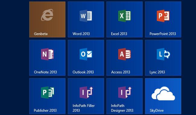 Office 2013 tiles