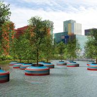 El arte y la naturaleza se unen en lo que será el primer bosque flotante en el mundo