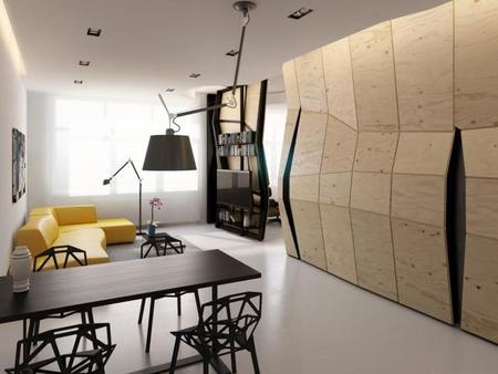 Un muro polifacético para organizar un apartamento - 2