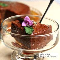 Receta: Flan de chocolate oscuro con caramelo picante