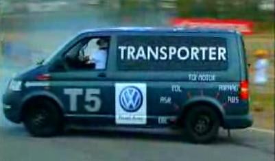 Haciendo locuras con furgonetas Volkswagen